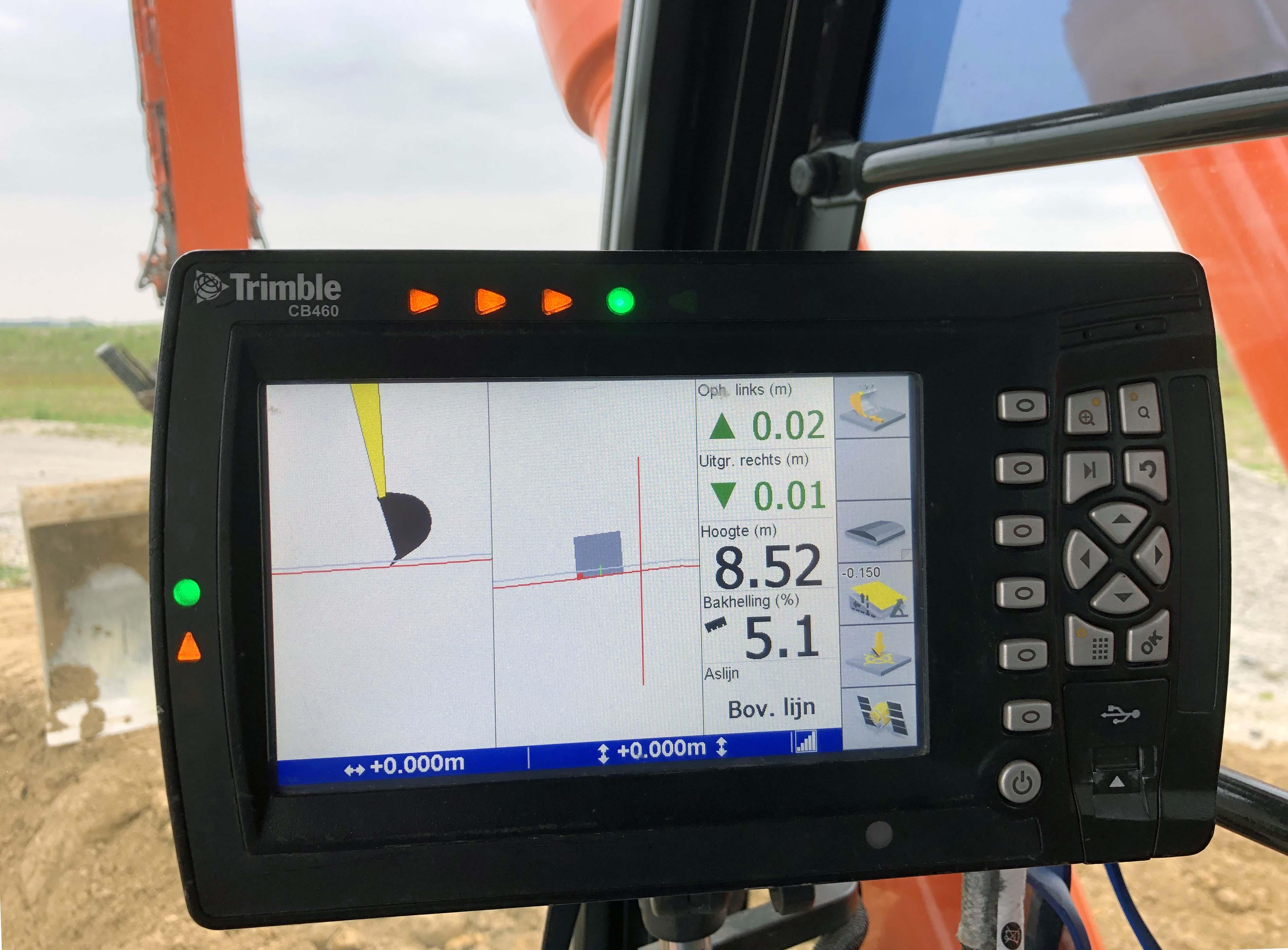 Knooppunt Sloeweg: GPS in de graafmachine