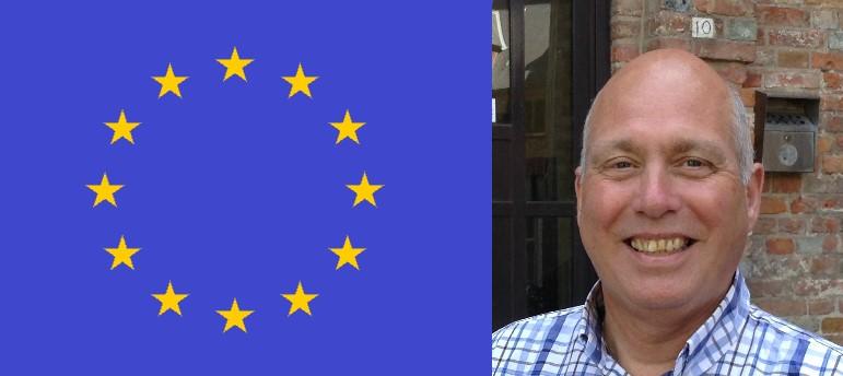 Europese vlag en Johan Wandel