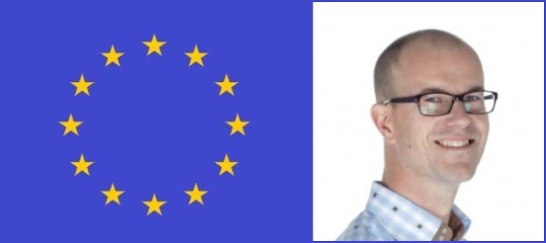 Leon Verlinde en Europese vlag