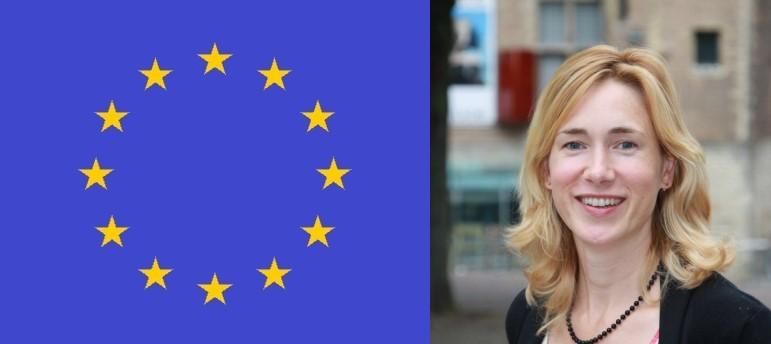 Manon Klein Hesseling en Europese vlag
