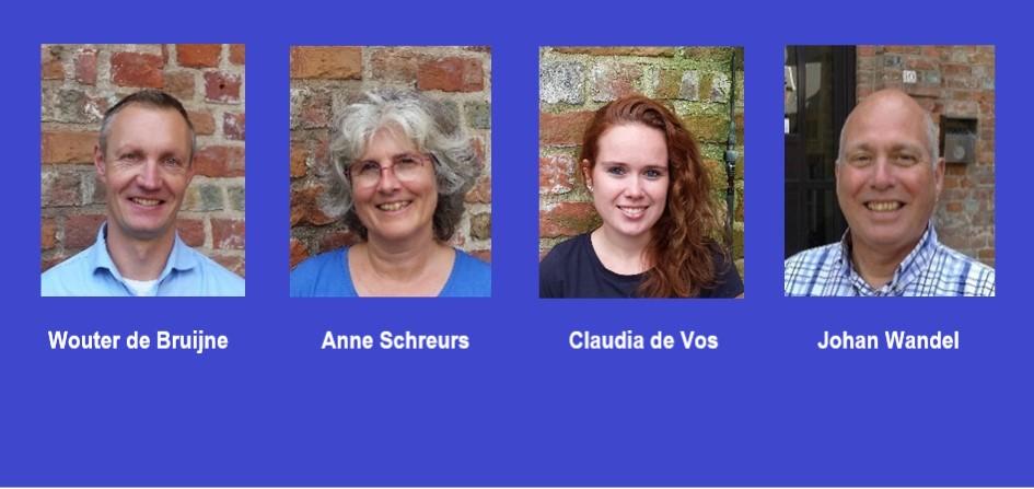 De leden van het Zeeuwse POP-team: Wouter de Bruijne, Anne Schreurs, Claudia de Vos en Johan Wandel