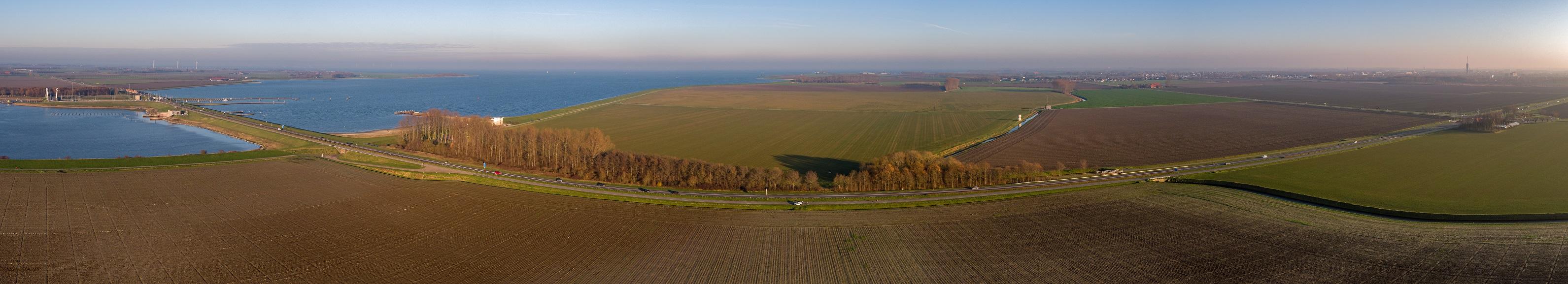 luchtfoto Deltaweg/Zandkreekdam