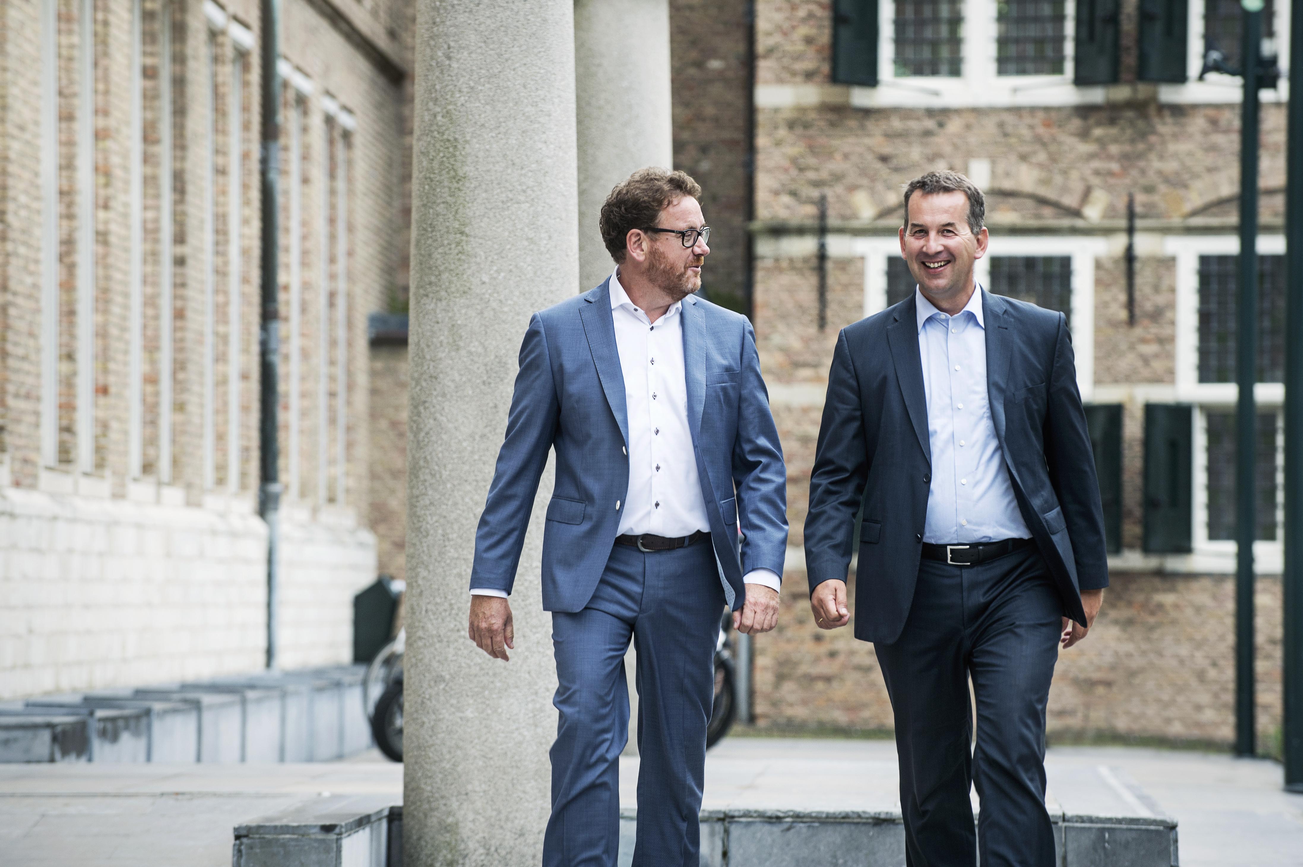 Directeuren Luuk Prevaes (links) en Ab Smit (rechts)