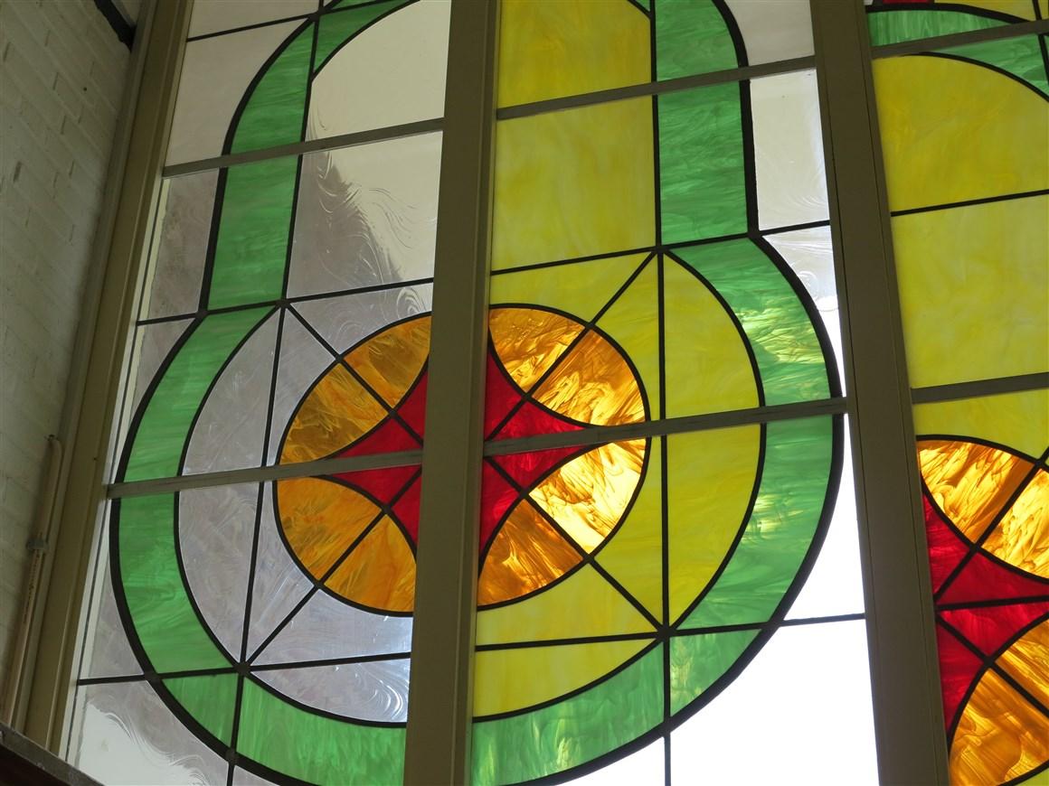 glas in lood raam kerk Kapelle