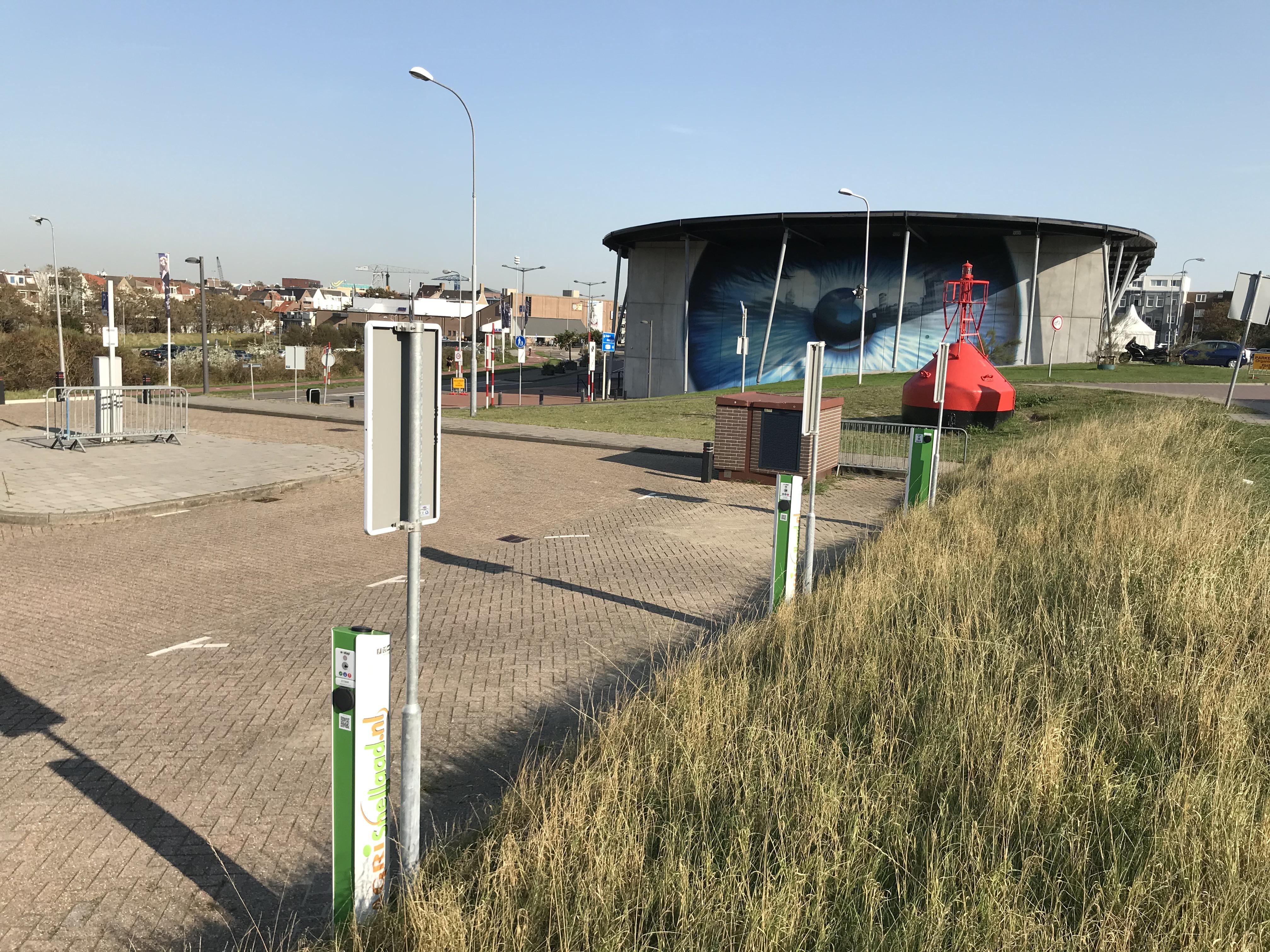 Laadpalen parkeerplaats Spuikom Vlissingen