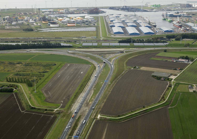Knooppunt Drie Klauwen open voor verkeer, 30 september 2019 Skypictures